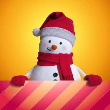 festive snowman background