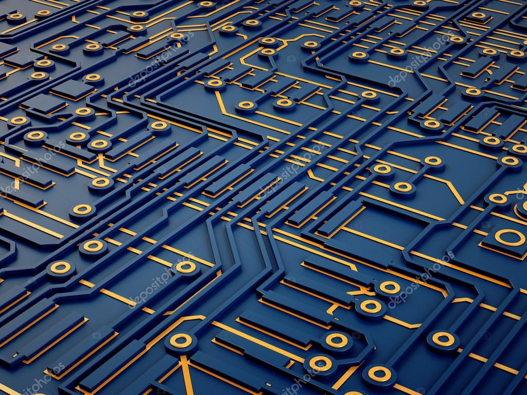 3d abstract background of microchips — Stock Photo ...