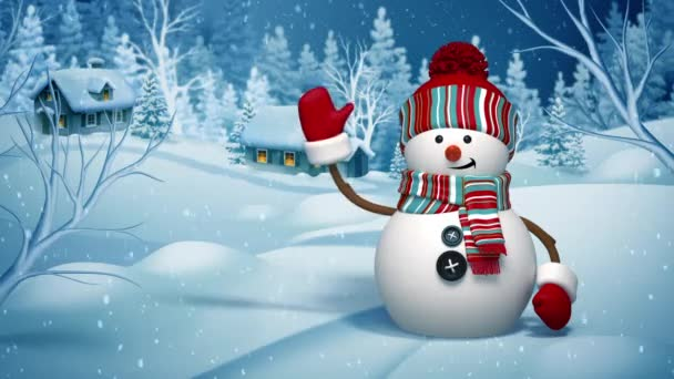 roztomilý snowmans pozdrav