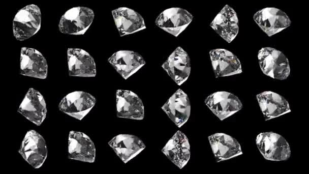 3D krystaly diamanty a brilianty