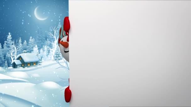 hóember gazdaság üres holiday banner