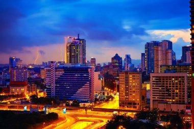 evening cityscape of Kuala Lumpur, Malaysia