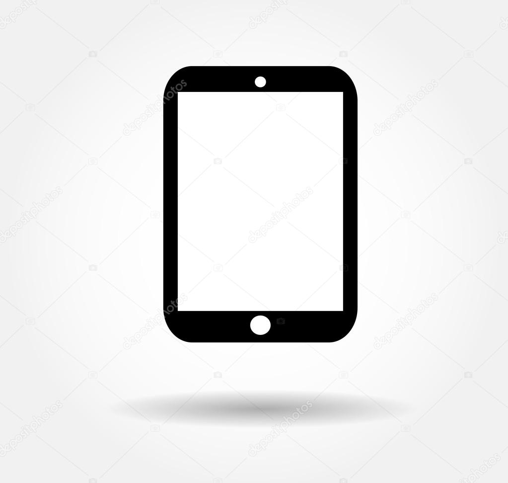 Tablet flat icon in ip...