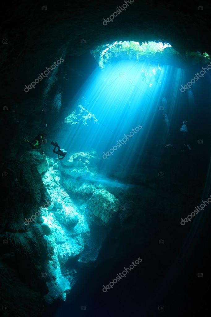 Cenote underwater cave