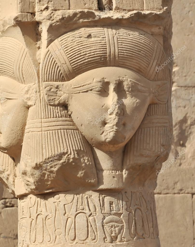 templo de hathor em dendera no egito fotografias de stock