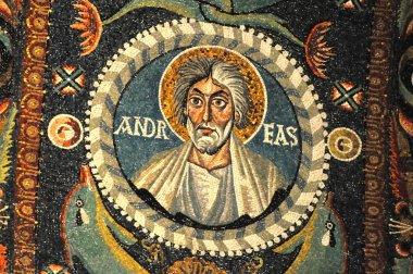 byzantine mosaic portrait of Saint Andrew the apostle