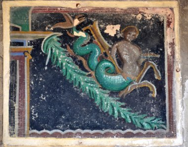 "Картина, постер, плакат, фотообои ""Имитация древней римской мозаики"", артикул 83323112"
