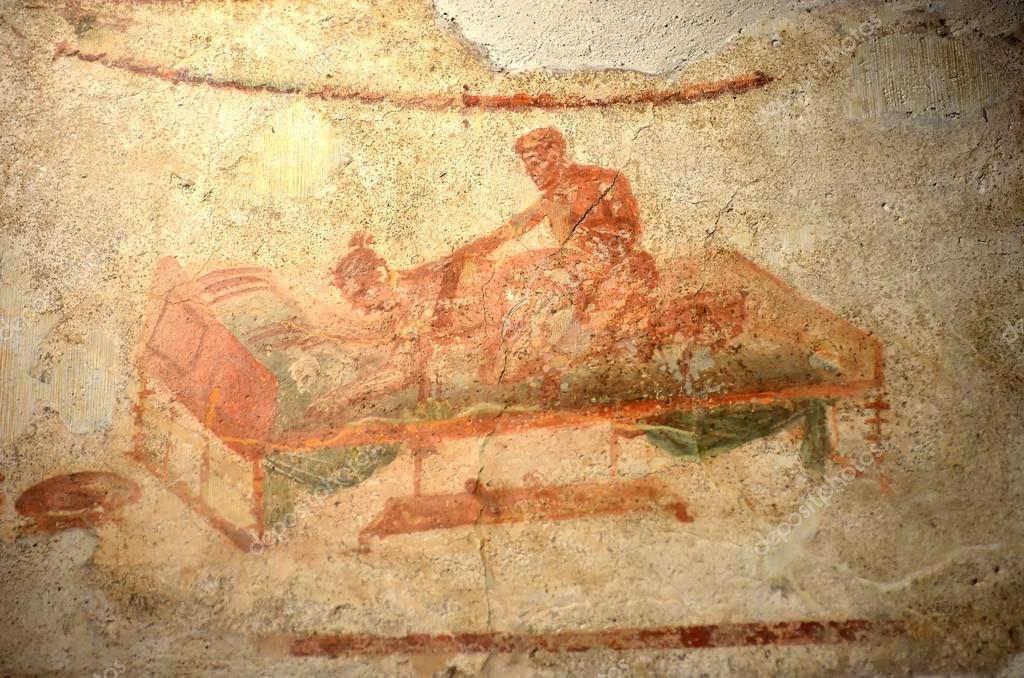 Pompeii Brothel Wall Paintings
