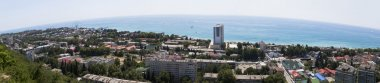Top view of the resort settlement Lazarevskoe, Sochi, Russia. Panorama