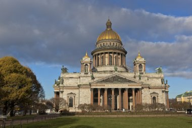 St. Petersburg, Russia. St. Isaac Cathedral in autumn