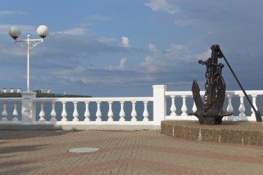Anchor on promenade of resort Gelendzhik, Krasnodar Region, Russia
