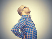 Fotografie Caucasian man  with intense back pain