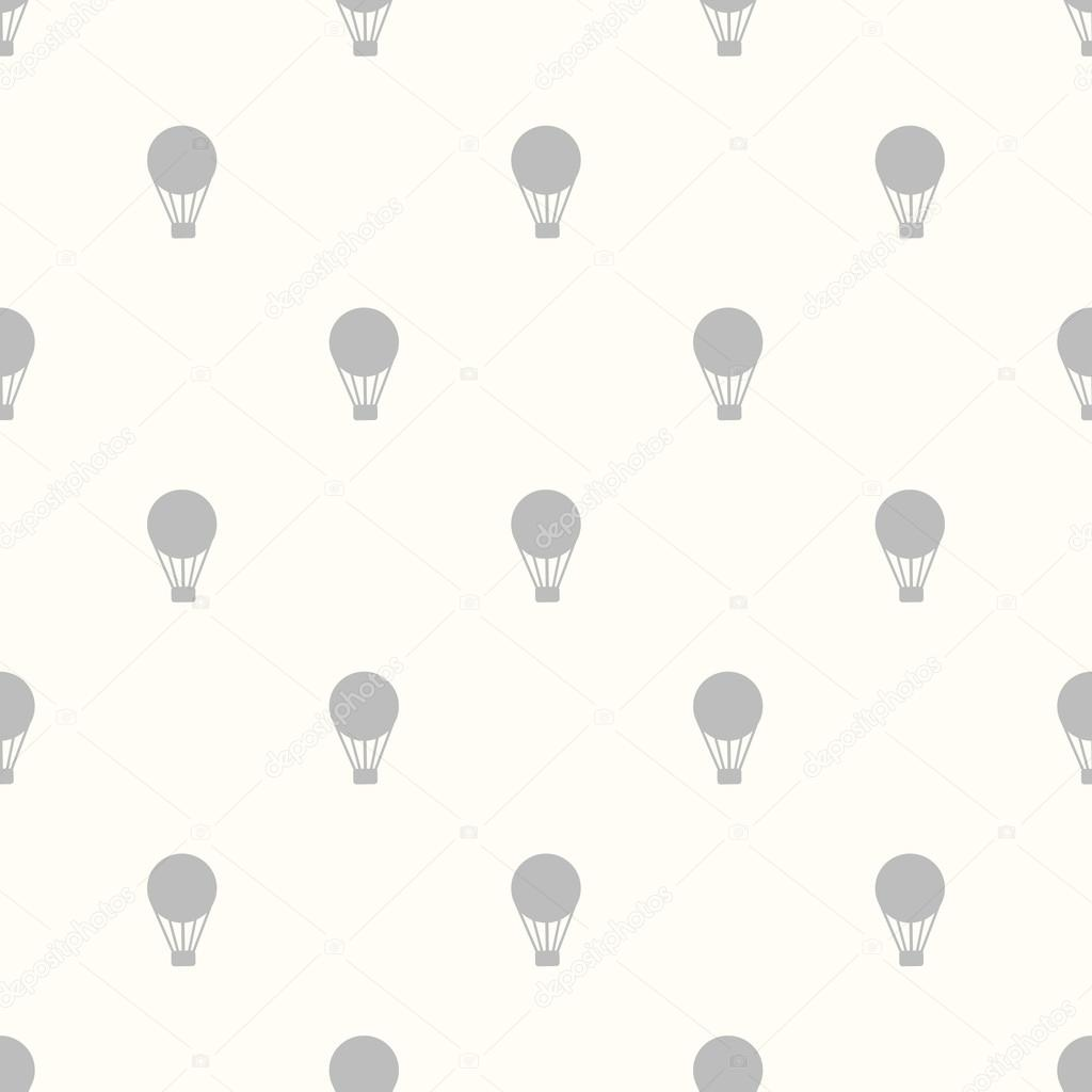 Seamless Background with hot air balloons retro.