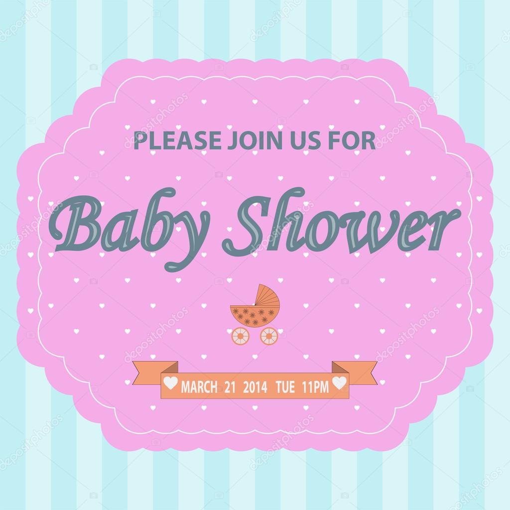 Baby-Dusche Einladung Vorlage Karte — Stockvektor © volkovslava ...