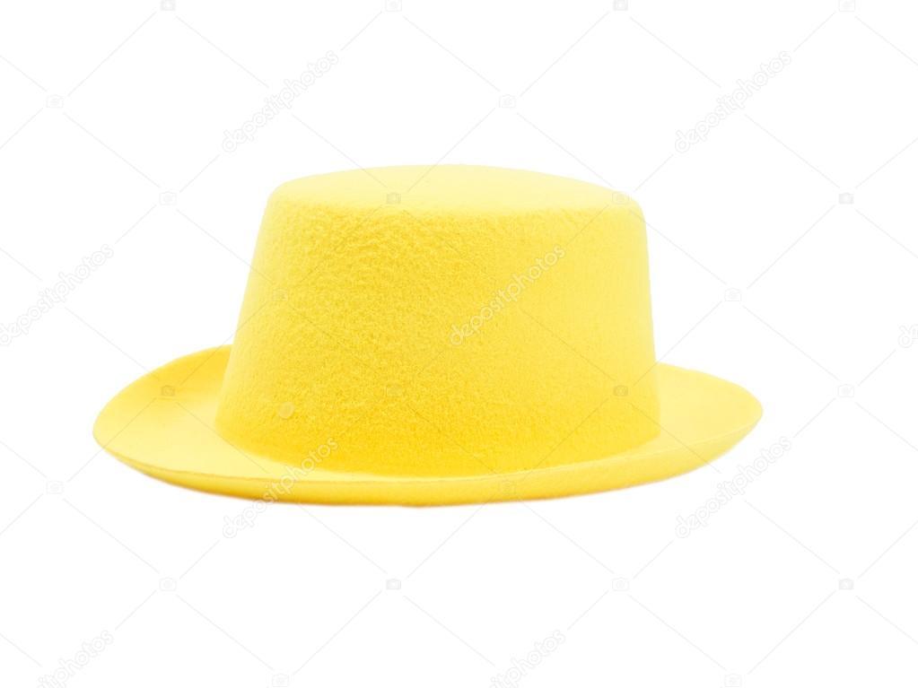 Sombrero amarillo brillante con un borde — Foto de stock ... 53a68800050
