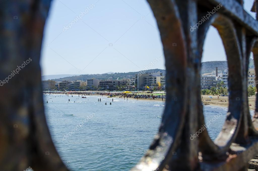 Rethymno beach, crete island