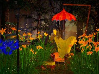 Fantasy 3d illustration stock vector