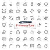 Kreslené ikony E-komerce