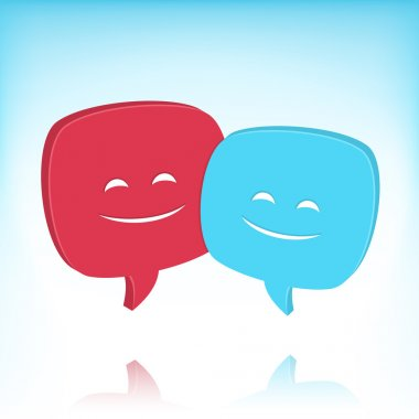 Speech Bubbles With Smiling Faces