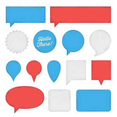 Speech Bubbles and Labels