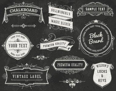 Chalkboard Vintage Design Elements
