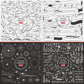 Fotografie Large Collection of Hand Drawn Vector Design Elements