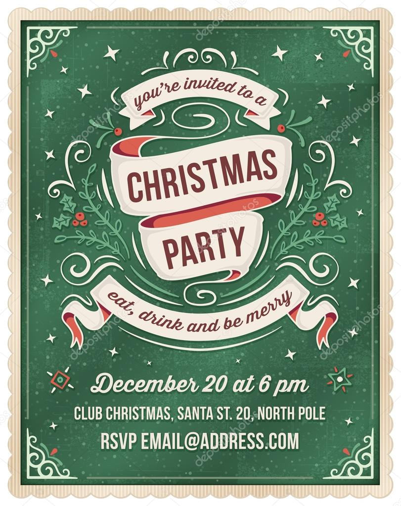Green christmas party invitation template vetores de stock green christmas party invitation template vetores de stock stopboris Image collections