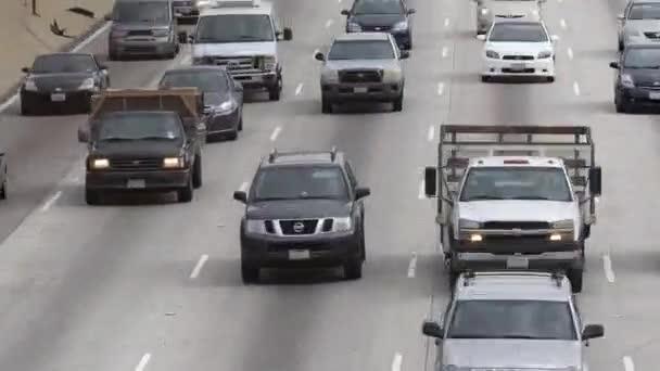 Provoz v centru Los Angeles v Kalifornii