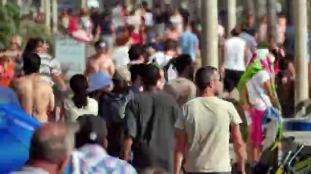 Časová prodleva davy na rušné pěší chodník