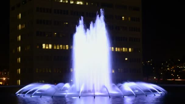 Fountain at Night in Downtown Los Angeles