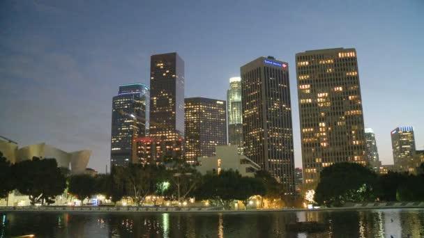 Los Angeles-i felhőkarcolók éjjel