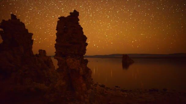 Mono Lake Tuffstein Turm Perseiden Meteorschauer