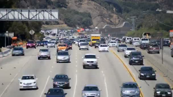 Traffic on Busy Freeway in Los Angeles
