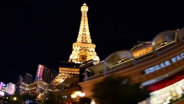 POV jízdy kolem Las Vegas Casino
