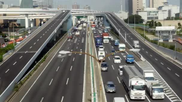 Heavy Traffic on Japanese Highway