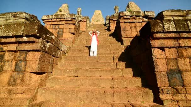 Worshiping At Angkor Wat Temple