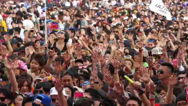 Crowds At Electronic Music Festival
