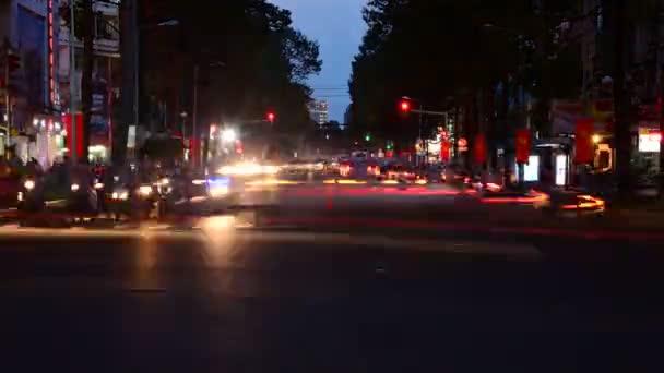 městský provoz v noci