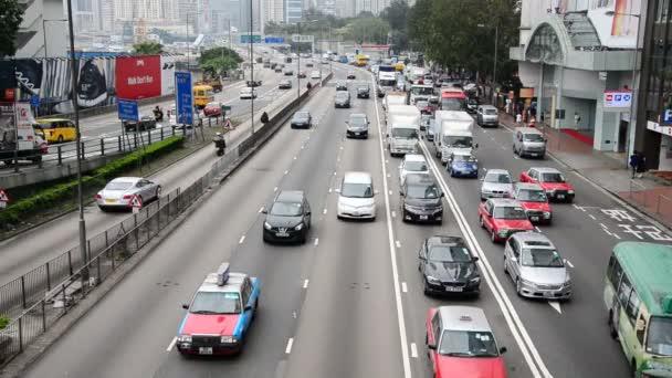 Traffic on Busy Hong Kong Freeway