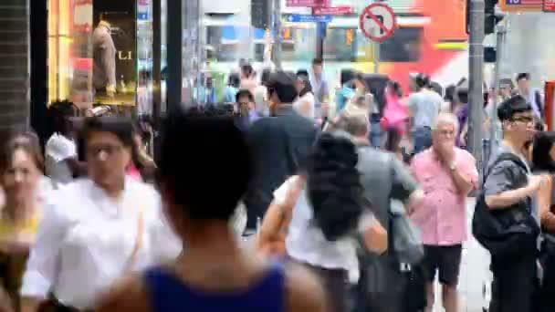 Pedestrians in Central District Hong Kong