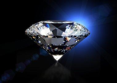 Big diamond on black