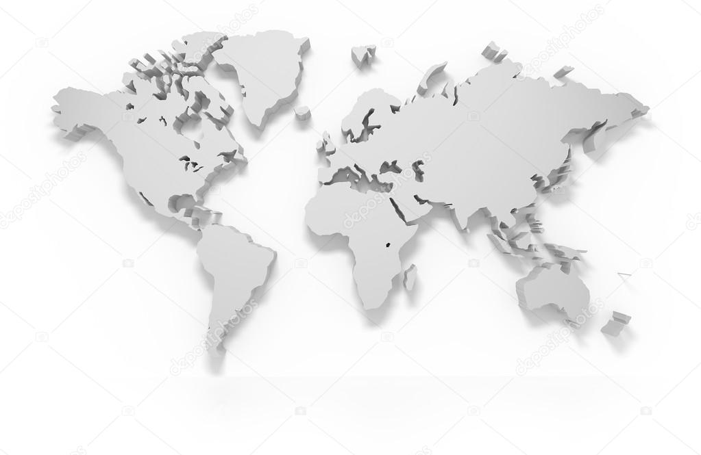 3d world map stock photo 3dart 83899594 3d world map isolated on white with clipping path photo by 3dart gumiabroncs