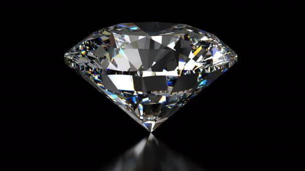 Spinning gyémánt fekete háttér - végtelenített