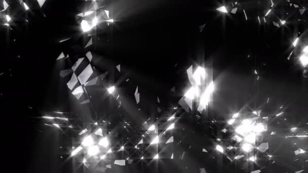 Abstraktní zářivé černé 4k diamond smyčka