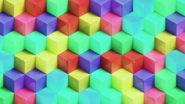 Abstraktní barevné kostky pozadí l