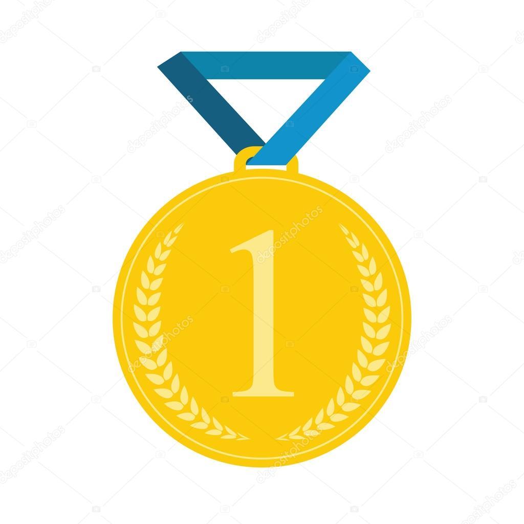 Arte plano medalla icono plantilla para Web. Icono de medalla ...