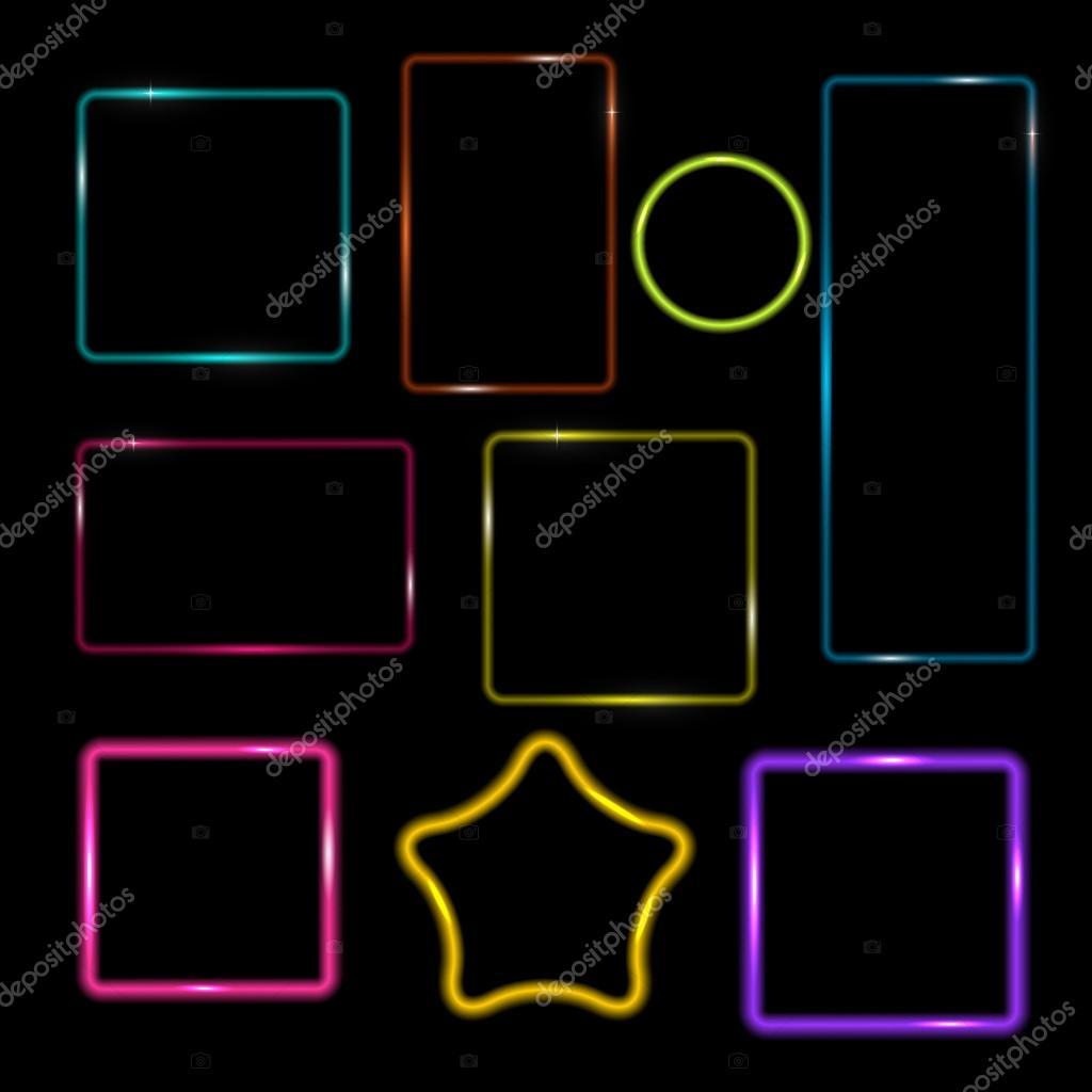 Neon Rahmen, Tasten auf karierten abstrakte TERGRU Transparent ...