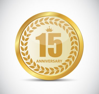 Template Logo 15 Years Anniversary Vector Illustration