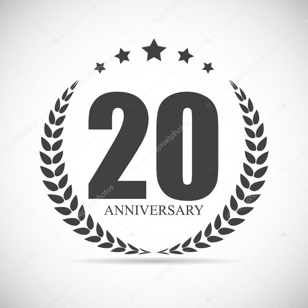 Modèle Logo 20 Ans Anniversaire Illustration Vectorielle Image