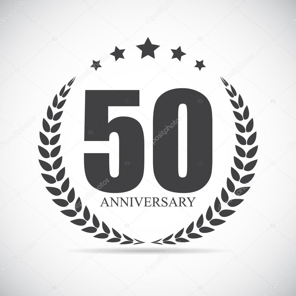 sjabloon 50 jaar Sjabloon Logo 50 jaar verjaardag vectorillustratie — Stockvector  sjabloon 50 jaar
